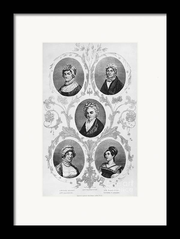 1700s Framed Print featuring the photograph Wives Of Founding Fathers by Granger
