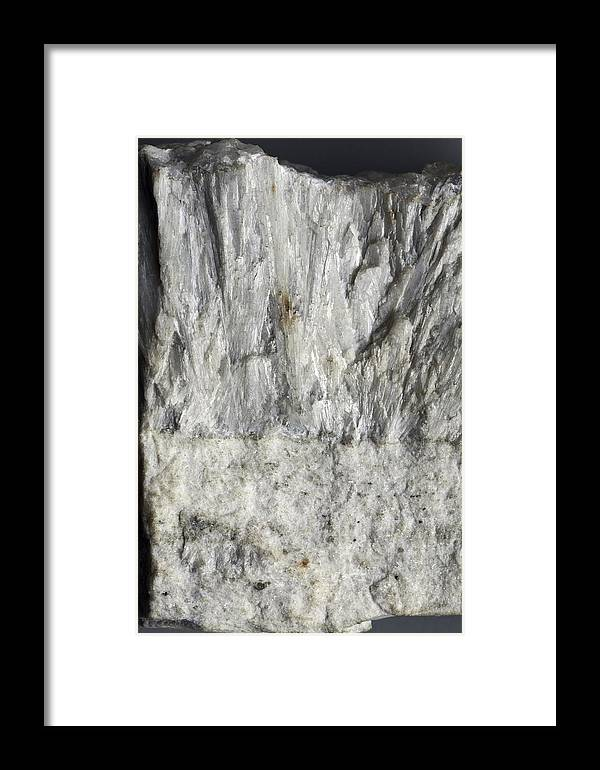 Calcite Framed Print featuring the photograph Wollastonite And Calcite by Dirk Wiersma