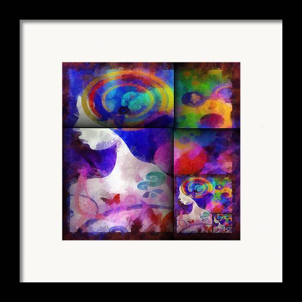 Wonder Framed Print featuring the digital art Wondering 1 by Angelina Vick