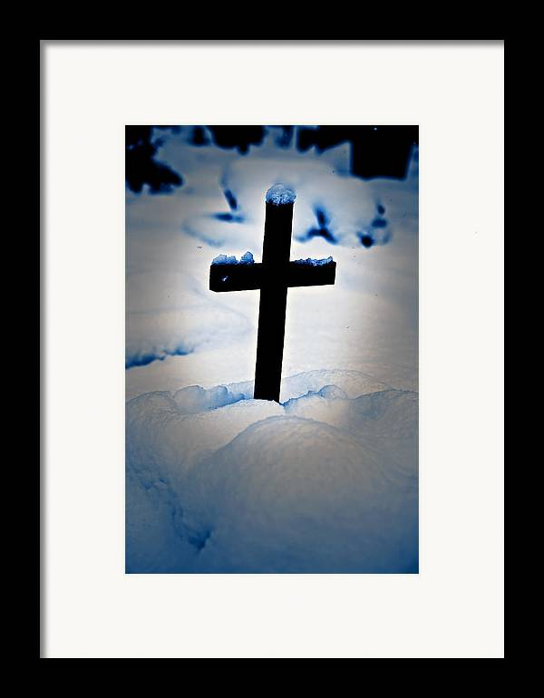 Cross Framed Print featuring the photograph Wooden Cross by Joana Kruse