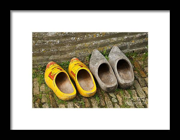 Wooden Framed Print featuring the photograph Wooden Shoes by Louise Heusinkveld