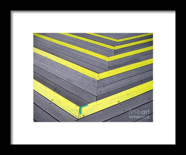 Wood Framed Print featuring the photograph Wooden Stairs by Yali Shi
