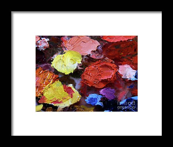 Paint Framed Print featuring the photograph Work In Progress by Mark Holbrook