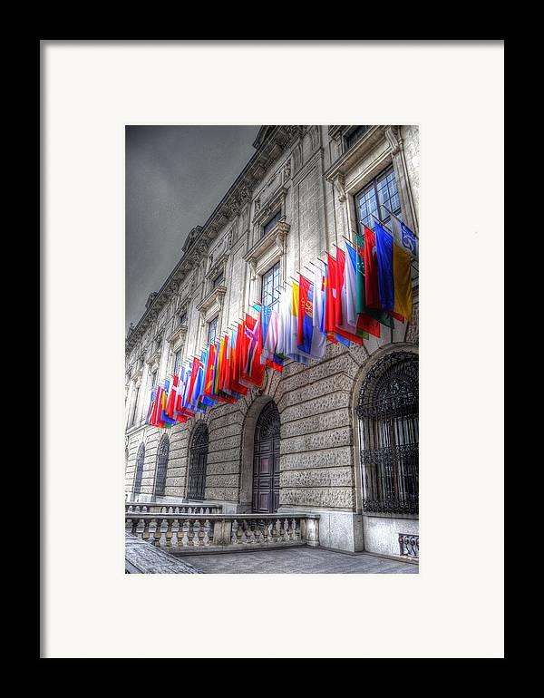 Prague Czech Republic Framed Print featuring the digital art World Flags by Barry R Jones Jr