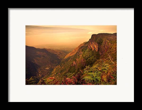 Nature Framed Print featuring the photograph Worlds End. Horton Plains National Park. Sri Lanka by Jenny Rainbow