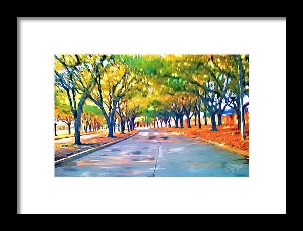 Trees Framed Print featuring the digital art Wortham Blvd Houston by James Mingo