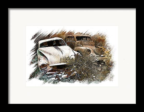 Art Framed Print featuring the pyrography Wreck 3 by Mauro Celotti