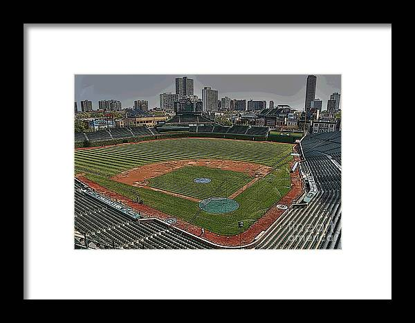 Wrigley Field Framed Print featuring the photograph Wrigley In Spring by David Bearden