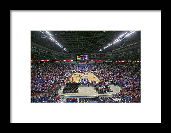 Framed Print featuring the photograph Wsu Basketball 2012 Arena by Dan Quam
