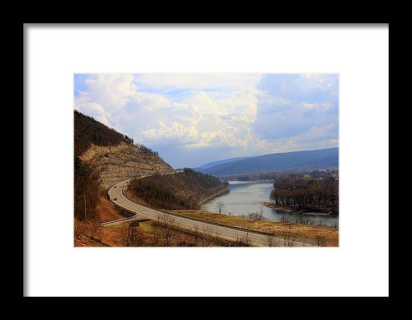 Landscape Framed Print featuring the photograph Wysox Narrows East by Sherry Dulaney