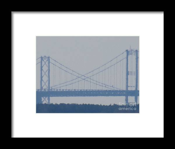 Chesapeake Bay Bridge Framed Print featuring the photograph X marks the Crossing by Rrrose Pix