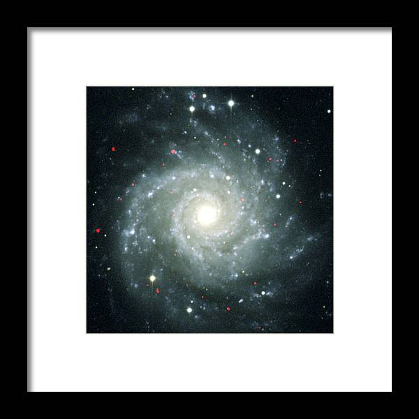 M74 Framed Print featuring the photograph X-ray Sources In M74, Chandra Image by Nasa