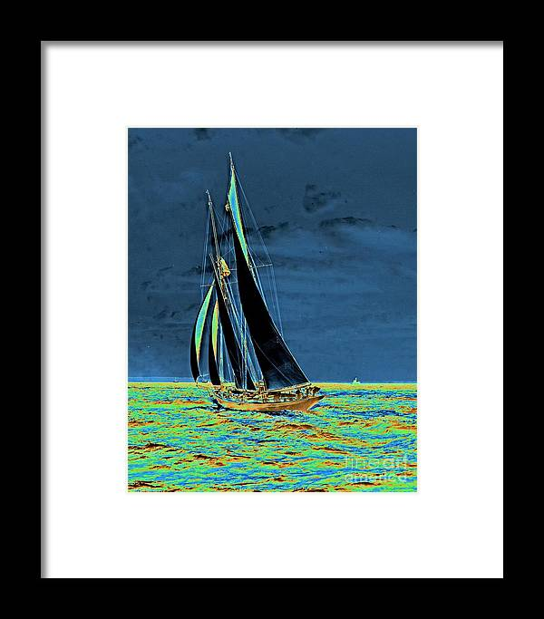 Yacht Idler Races For America's Cup 1901 Framed Print featuring the photograph Yacht Idler Races For America's Cup 1901 by Padre Art
