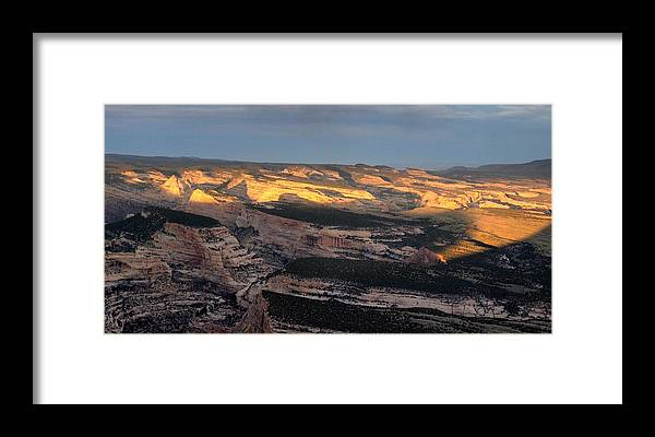 Yampa Bench Framed Print featuring the photograph Yampa Bench Sunset One by Joshua House
