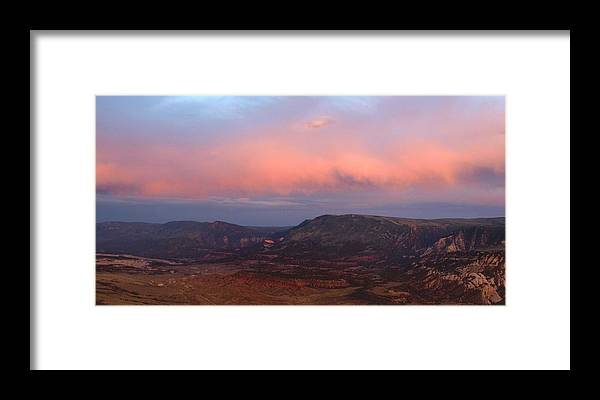 Yampa Bench Framed Print featuring the photograph Yampa Bench Sunset Two by Joshua House