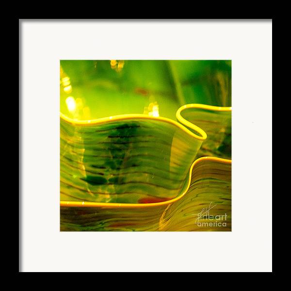 Photographs Framed Print featuring the photograph Yellow And Green by Artist and Photographer Laura Wrede