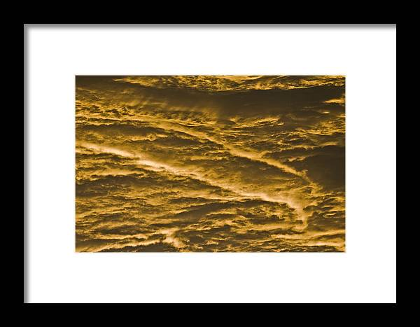 Sunrise Framed Print featuring the photograph Yellow Clouds by Patrick M Lynch