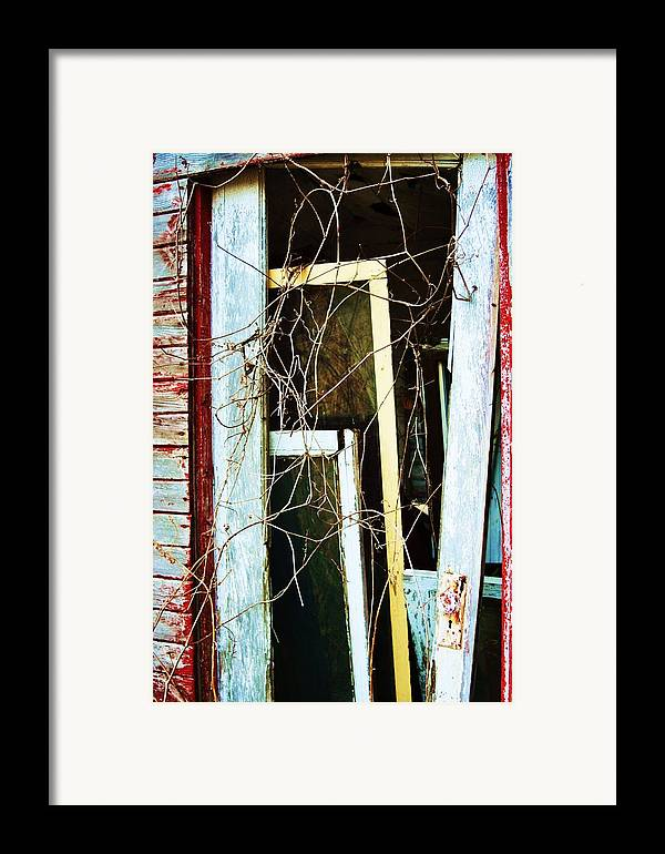 Yellow Door Framed Print featuring the photograph Yellow Door by Todd Sherlock