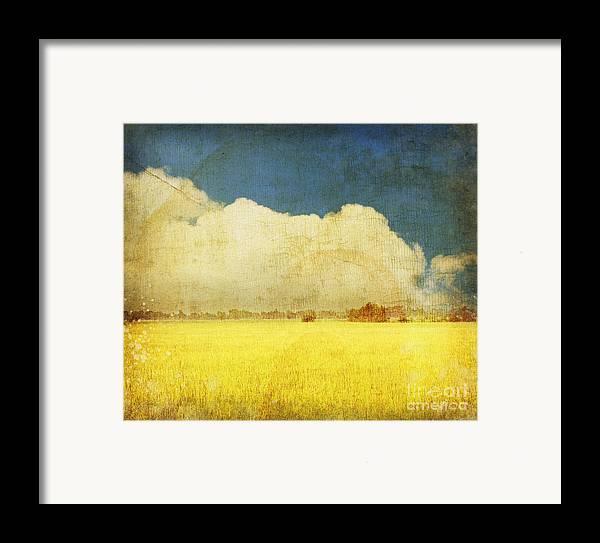 Abstract Framed Print featuring the photograph Yellow Field by Setsiri Silapasuwanchai