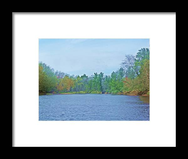 River Framed Print featuring the photograph Yellow River 13 by Dave Dresser