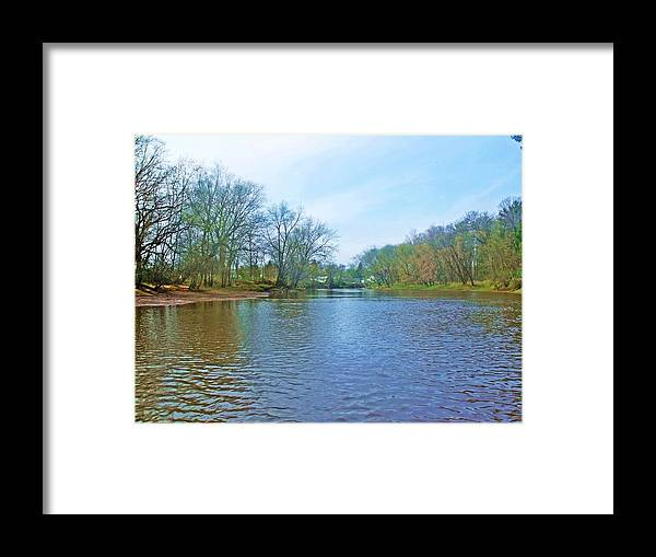 River Framed Print featuring the photograph Yellow River 17 by Dave Dresser
