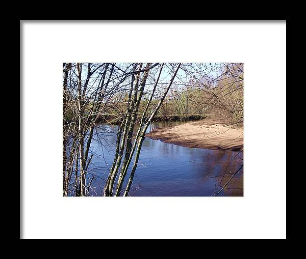 Rivers Framed Print featuring the photograph Yellow River 18 by Dave Dresser
