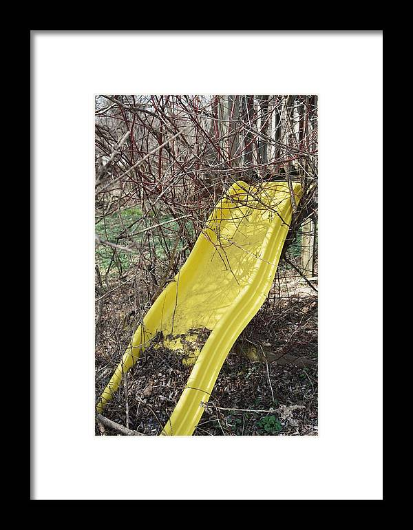 Yellow Slide Framed Print featuring the photograph Yellow Slide by Todd Sherlock