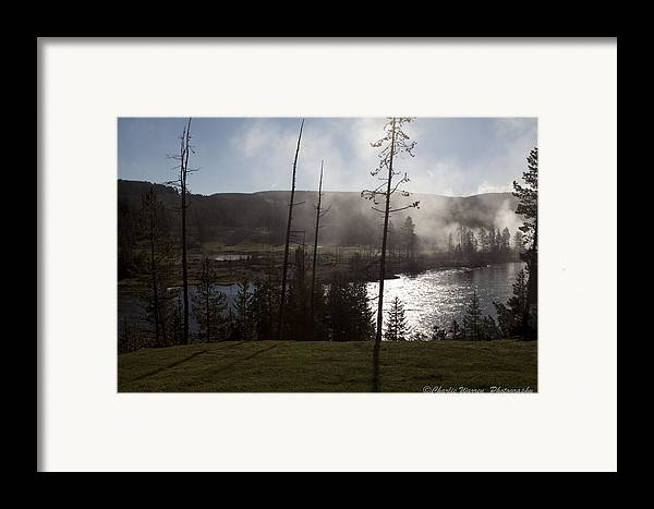 Yellowstone Framed Print featuring the photograph Yellowstone Morning by Charles Warren
