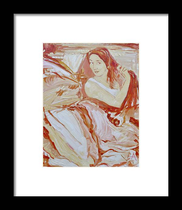 Yes Framed Print featuring the painting Yes by Azhir Fine Art