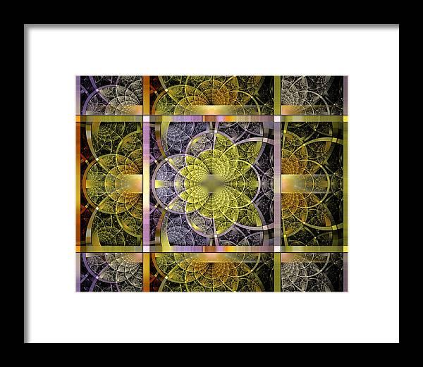 Fractal Framed Print featuring the digital art Yggdrasil Flower by Drake Lock