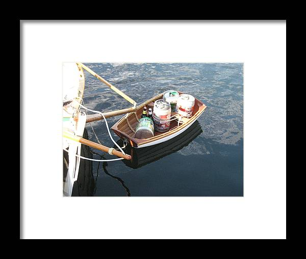 Wooden Rowboat Framed Print featuring the photograph Yo Ho Ho And A Skiff Full Of Beer by Kym Backland