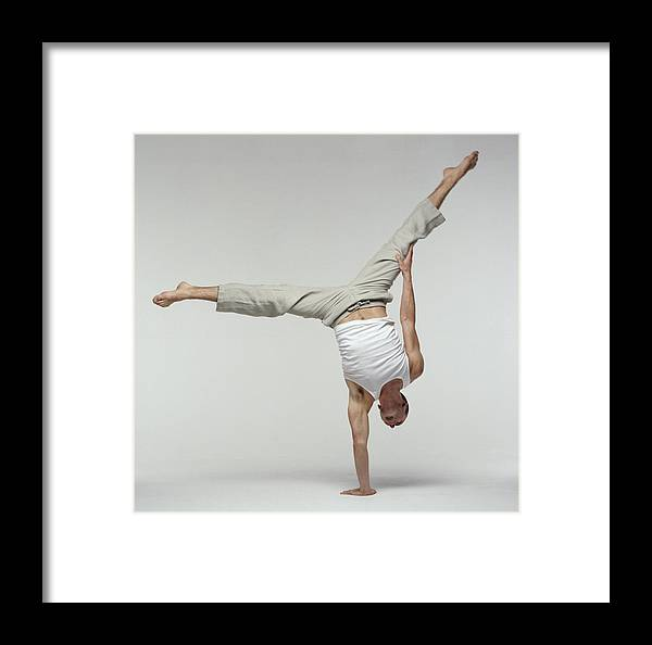 Man Framed Print featuring the photograph Yoga Pose by Tony Mcconnell