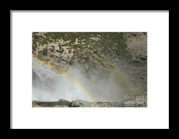 Yosemite National Park Framed Print featuring the photograph Yosemite Falls Rainbow by Cassie Marie Photography