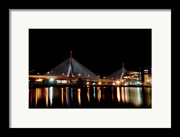 Bridge Framed Print featuring the digital art Zakim Over The Charles River by Richard Bramante