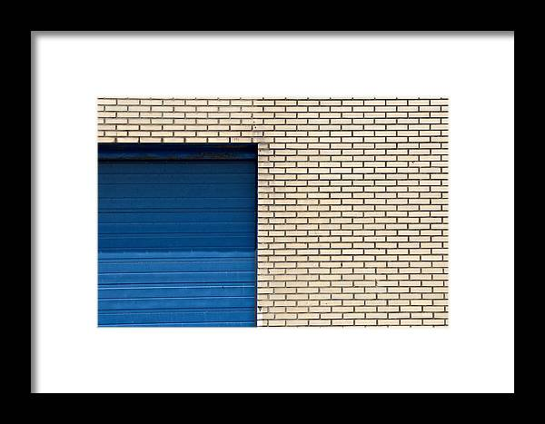 Abstract Framed Print featuring the photograph Zeesluisweg by Steven Richman