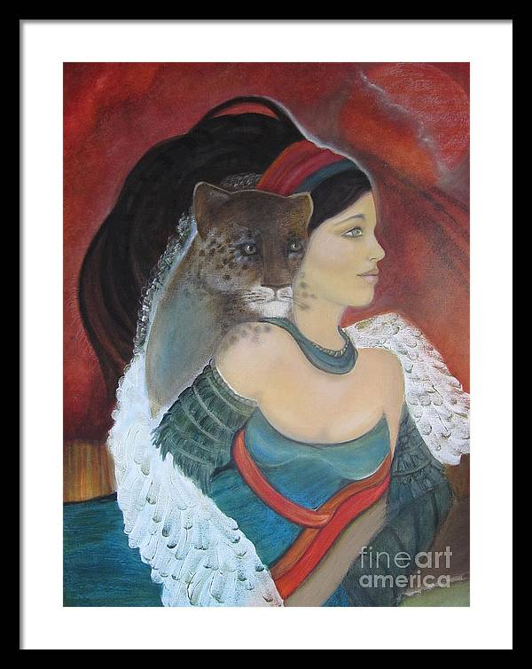 Fantasy Framed Print featuring the painting Zela by Sharyn Rich