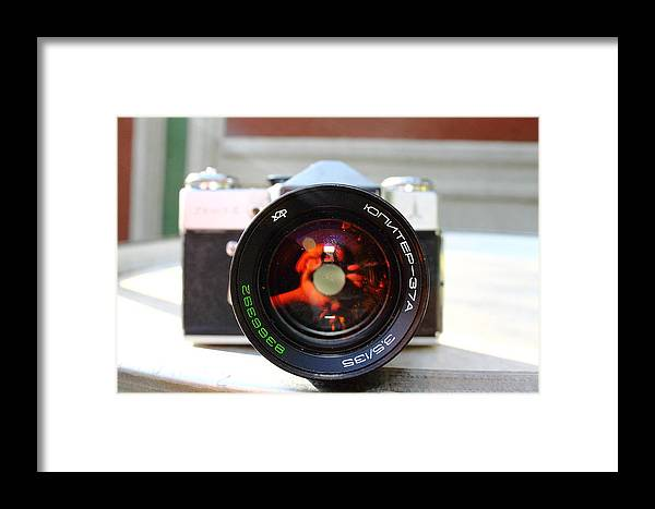 Ussr Framed Print featuring the photograph Zenit Photo Camera by Ion Para