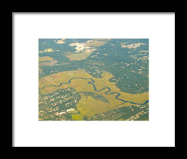 Sky Framed Print featuring the photograph Zig Zag River by Tamika Carroll