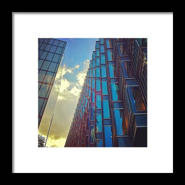 Building Framed Print featuring the photograph Zig Zag by Samuel Gunnell