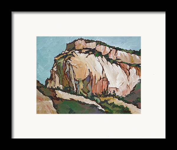 Zion Framed Print featuring the painting Zion National Park by Sandy Tracey
