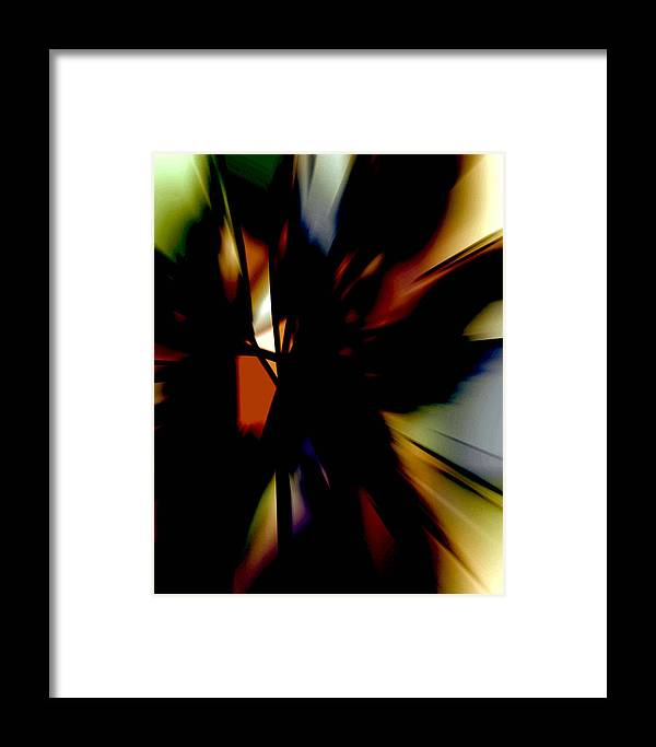 Abstract Expressionism Framed Print featuring the digital art Zion Vii by John Neumann