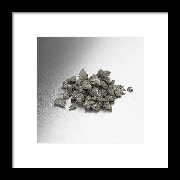 Chemical Framed Print featuring the photograph Zirconium by