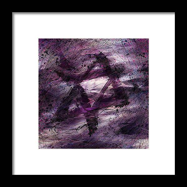 Abstract Framed Print featuring the digital art . . . When We Remembered Zion by Rachel Christine Nowicki