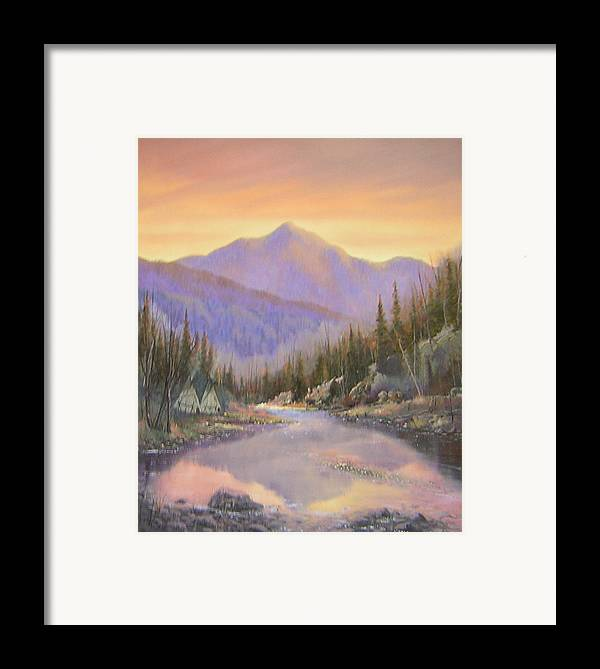 Landscape Framed Print featuring the painting 060526-2024 Times Past  by Kenneth Shanika