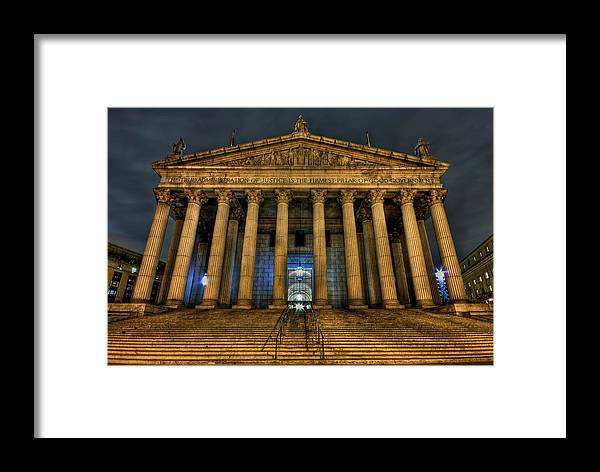 Architecture Framed Print featuring the photograph ... And Justice For All by Evelina Kremsdorf