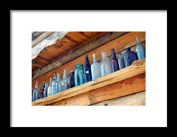 Bottles Framed Print featuring the photograph Antique Bottles Blues by Heather S Huston