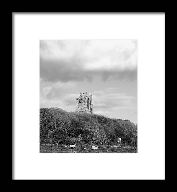 Landscape Framed Print featuring the photograph  Ballinalacken Castle by Ann O Connell