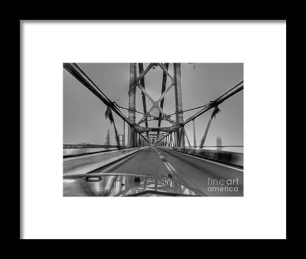 Baybridge Framed Print featuring the photograph Baybridge at speed by Rrrose Pix