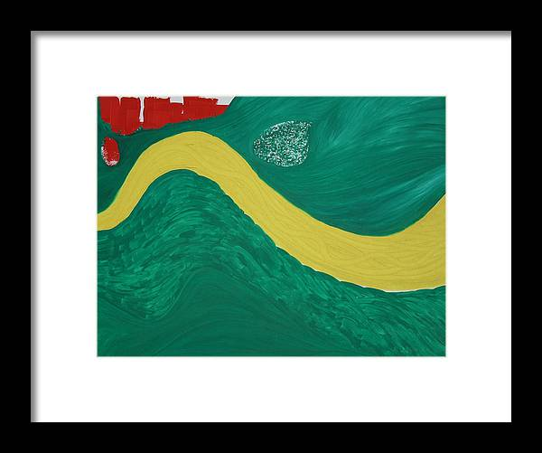 Framed Print featuring the painting Bend In The River by Prakash Bal Joshi