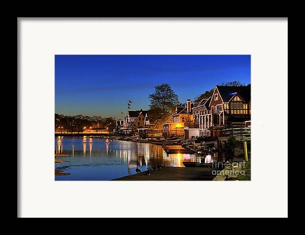 Philadelphia Framed Print featuring the photograph Boathouse Row by John Greim
